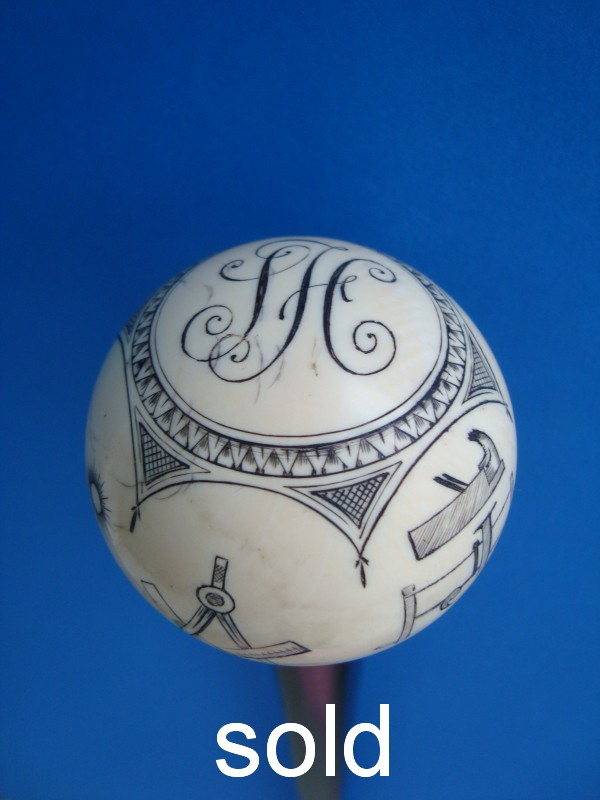 A Masonic ball cane